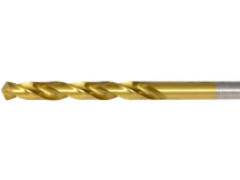 Купить Сверло по металлу 5,1х132 мм с цилиндрическим хвостовиком с вышлифованным профилем с покрытием из нитрида титана