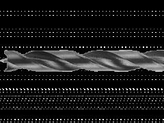 Купить Сверло с подрезателем по дереву 7х156 мм с цилиндрическим хвостовиком в блистере с европетлей